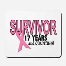 Breast Cancer Survivor 17 Years Mousepad
