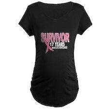 Breast Cancer Survivor 17 Years T-Shirt