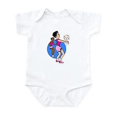 Volleyball Women Infant Bodysuit