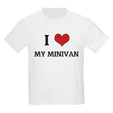 I Love My Minivan Kids T-Shirt