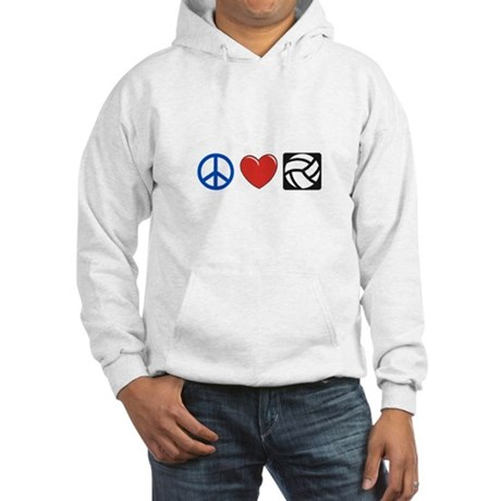 Peace, love, volleyball Hooded Sweatshirt
