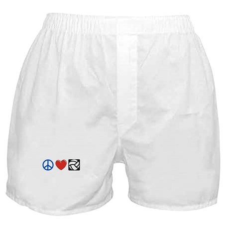 Peace, love, volleyball Boxer Shorts