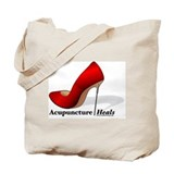 Acupuncture heals Canvas Totes