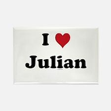 I love Julian Rectangle Magnet