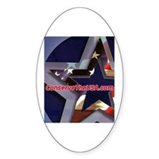 """ConserveTheUSA Stuff"" Oval Decal"
