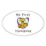 My First Thanksgiving Sticker (Oval 10 pk)