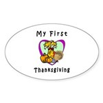 My First Thanksgiving Sticker (Oval 50 pk)