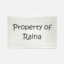Funny Raina Rectangle Magnet