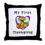My First Thanksgiving Throw Pillow