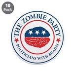 "The Zombie Party 3.5"" Button (10 pack)"