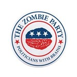 "The Zombie Party 3.5"" Button"