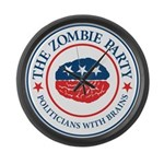 The Zombie Party Large Wall Clock