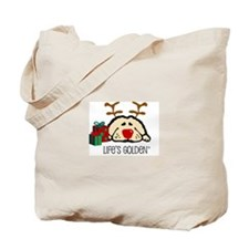 Life's Golden Rudolph Tote Bag