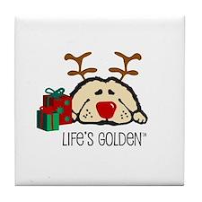 Life's Golden Rudolph Tile Coaster