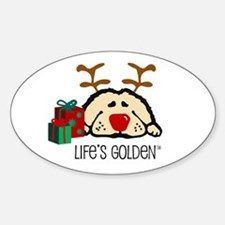 Life's Golden Rudolph Oval Decal
