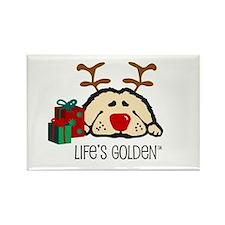 Life's Golden Rudolph Rectangle Magnet