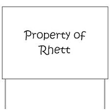 Unique Rhett Yard Sign