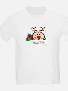 Life's Golden Rudolph Kids T-Shirt