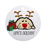 Lifes golden Round Ornaments