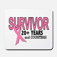 Breast Cancer Survivor 20+ Years Mousepad