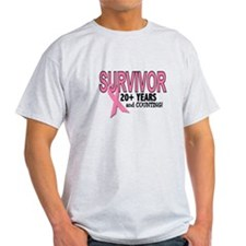 Breast Cancer Survivor 20+ Years T-Shirt