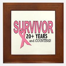 Breast Cancer Survivor 20+ Years Framed Tile