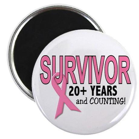 Breast Cancer Survivor 20+ Years Magnet