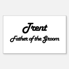 Trent - Father of Groom Rectangle Decal
