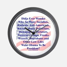 """Didja Ever Wonder?"" Wall Clock"