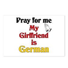 Pray for me my girlfriend is German Postcards (Pac