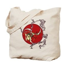 Taiko - God of Thunder - Red Tote Bag