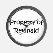 Unique Reginald name Wall Clock
