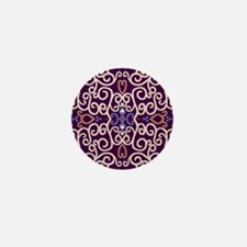 Art Nouveau (purple/ivory) Mini Button