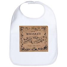 """""""Whiskey Makes Me Frisky"""" Bib"""