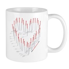 Acupuncture Needle Heart Mug