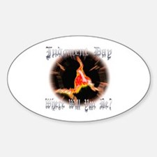 Judgment Day Oval Decal