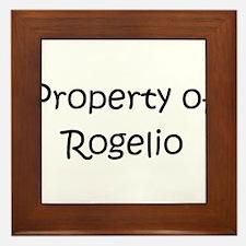 Funny Rogelio Framed Tile