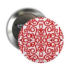 """Art Nouveau (black/red) 2.25"""" Button (10 pack)"""
