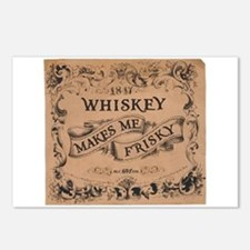 """""""Whiskey Makes Me Frisky"""" Postcards (Package of 8)"""