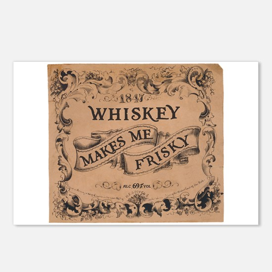 """Whiskey Makes Me Frisky"" Postcards (Package of 8)"