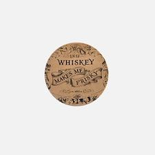 """Whiskey Makes Me Frisky"" Mini Button (10 pack)"