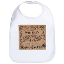 """Whiskey Makes Me Frisky"" Bib"
