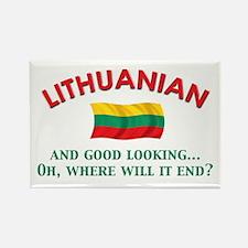 Good Lkg Lithuanian 2 Rectangle Magnet