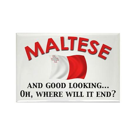 Good Lkg Maltese 2 Rectangle Magnet