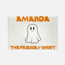 Amanda The Friendly Ghost Rectangle Magnet