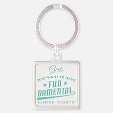 Feminist quotes Square Keychain