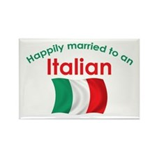 Happily Married Italian 2 Rectangle Magnet