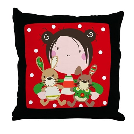 """My Christmas friends"" Throw Pillow"