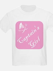 Captain's Girl (Pink) Kids T-Shirt