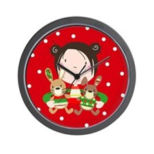 """My Christmas friends"" Wall Clock"